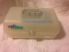 Caboodles Jellies Clear Sparkle Glitter Make Up Dorm Jewelry Case 2622 Vintage | eBay