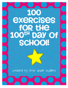100 Exercises for the 100th Day of School FREEBIE