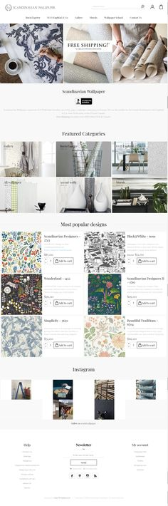 Unique Scandinavian wallpaper from Boråstapeter and Engblad & CO, the largest and most reputable wallpaper brands in Sweden. Scandinavian Design at its best. Scandinavian Wallpaper, Scandinavian Design, Minimal Theme, Beautiful Wall, Minimalism, Templates, Store, Link, Models