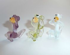 Glass figurines Three wise monkeys see no evil от WeAreLuckyShop