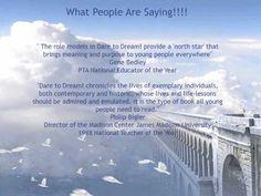 DARE TO DREAM! 25 EXTRAORDINARY LIVES by Sandra Humphrey - http://www.amazon.com/Dare-Dream-25-Extraordinary-Lives/dp/1591022800/