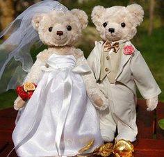 Couple Dolls Wedding Gift Teddy Bear Plush Toy