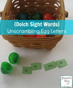 Dolch Sight Words- Unscrambling Egg Letters Great for an Easter activity or spring center!