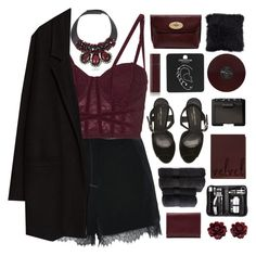 """ Velveteen "" by centurythe ❤ liked on Polyvore featuring Topshop, Kurt Geiger, Mulberry, Byredo, NARS Cosmetics, Christy, Royce Leather, Marni, John Lewis and MANGO"