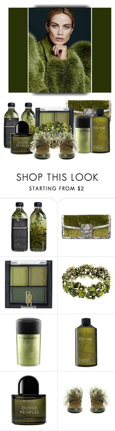 """""""Simply Olive"""" by babysnail ❤ liked on Polyvore featuring AMBRE, Dries Van Noten, Black Radiance, MAC Cosmetics, Olivina, Byredo and Christopher Kane"""