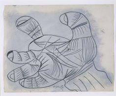 Pablo Picasso. Estudio para mano. Dibujo preparatorio para «Guernica», 1937