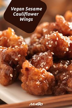 Yes, they're Vegan! This recipe for Sesame Cauliflower Wings is perfect for parties.