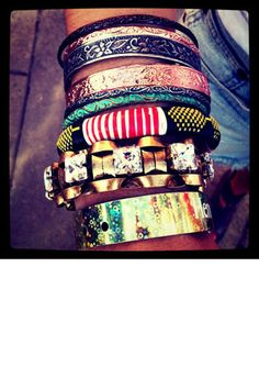 one thing I've always had a thing for. those bold  bracelets only SOME people can pull off!
