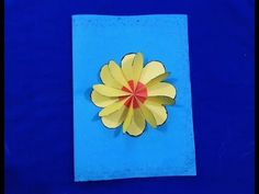 Flower 3D Pop Up card - How to make an Easy Flower greeting Pop up card ...
