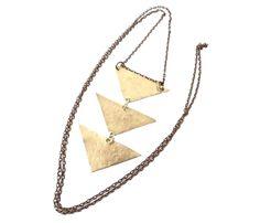 Three Chevron Necklace