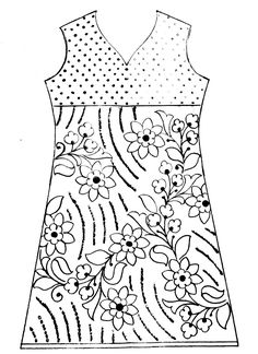 How to embroidery dress neck design/emroidery dress design/hand embroidery dress design india Hand Embroidery Dress, Diy Embroidery Kit, Embroidery Suits, Hand Embroidery Designs, Dress Design Patterns, Fancy Dress Design, Dress Neck Designs, Pattern Design, Pattern Sketch