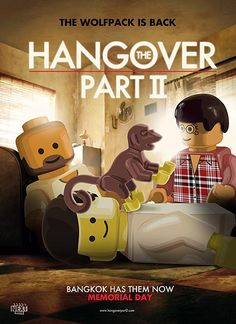 Lego movie poster: The Hangover Part II