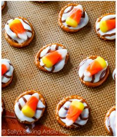 Candy Corn Pretzel Hugs. This mix is incredible.