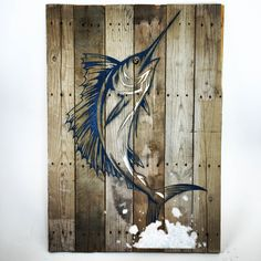 A personal favorite from my Etsy shop https://www.etsy.com/listing/232206267/large-glasssand-sailfish-on-reclaimed