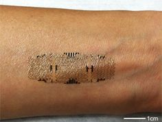 Electronic tattoo with sensors reads your vitals, reports them wirelessly. Don't panic, It's temporary. So does this mean the nurse can stop waking a patient in the middle of the flippin night? Thank you. This is awesome.
