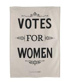 Votes For Women Tea Towel, Luckies.