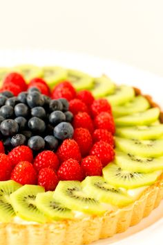 Fresh Fruit Tart with Pastry Cream - I remember eating these all the time, and they were my favourite