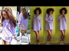DIY Lilac Sweater Inspired by Ariana Grande | DIY Fall Clothes - YouTube
