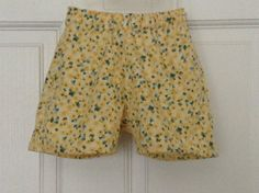 Tiny yellow and green floral/flower elastic waist by FreshLulu, $10.00