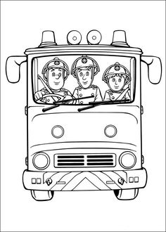 52 Free Fireman Sam colouring pages, free online sheets for fire fighters for children. These boys colouring book pages will be loved by your little man. Fireman Sam colouring sheets are fun and educational. Print, paint or colour in Sam and Friends Truck Coloring Pages, Coloring Pages For Boys, Coloring Book Pages, Printable Coloring Pages, Coloring Sheets, Fireman Party, Fireman Sam, Boy Wall Art, Party