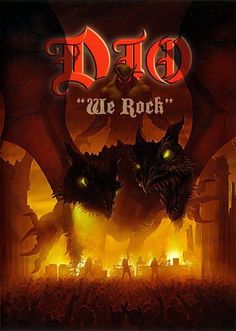 Dio - We Rock 2005 video Heavy Metal Rock, Heavy Metal Music, Heavy Metal Bands, Black Metal, Black Sabbath, Rock And Roll Bands, Rock Bands, Music Covers, Album Covers