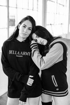Bri and Nicole🖤 Nikki Bella Photos, Nikki And Brie Bella, Nxt Divas, Total Divas, The Fabulous Moolah, Bella Sisters, Nicole Garcia, Great Minds Think Alike, Wwe Women's Division