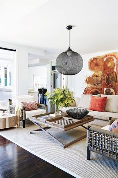 Living room from Hamptons-style holiday home on Victoria\'s ...