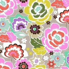 Maude Asbury - Maisie - Maisie Floral in Platinum- fabric for bedroom bench