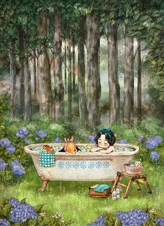 taking a bath in forest. - Aeppol