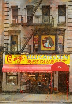 Carnegie deli NYC - An adventure in itself!  Go HUNGRY or plan to share.  We ordered 2 sandwiches (1 corned beef & 1 pastrami), onion rings, and 1 slice of cheesecake and split among the 4 of us & still took part of a sandwich back to hotel!  Loved the complimentary pickles.  All was very tasty:-)