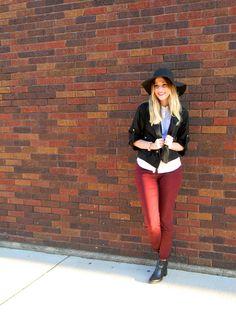 merlot jeans // felt hat Fall Style