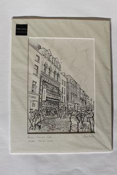 Bewleys Cafe Grafton Street Dublin Iris Art, Grafton Street, Art For Sale, Dublin, Cork, Irish, Framed Prints, Drawings, Painting
