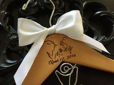 Disney Wedding Disney Bride Hanger Beauty & The Beast by GetHungUp