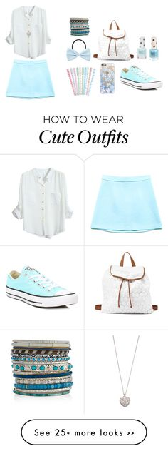 """Sweet outfit n.23"" by charlyheaven on Polyvore featuring Forever 21, Topshop, Casetify, Charlotte Russe, Accessorize and Converse"