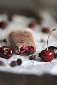 Chocolate Cherry Nutella Fudge Pops ♥