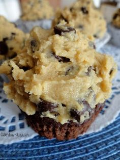 Ikhlass Brownie Cupcakes with Cookie Dough Frosting