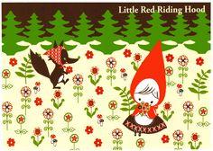 Shinzi Katoh Red Hood Forest Postcard