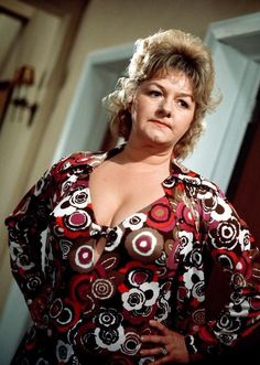 Joan Sims in 'Carry On Abroad' - 1972 British Actresses, British Actors, Actors & Actresses, British Comedy Films, British Celebrities, Classic Actresses, Sidney James, Kenneth Williams, Marilyn Monroe Photos