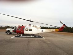 A 1996 UH1 at South Alabama Regional Airport in Andalusia, AL. The UH1 is out of Fort Rucker in Dothan, AL.