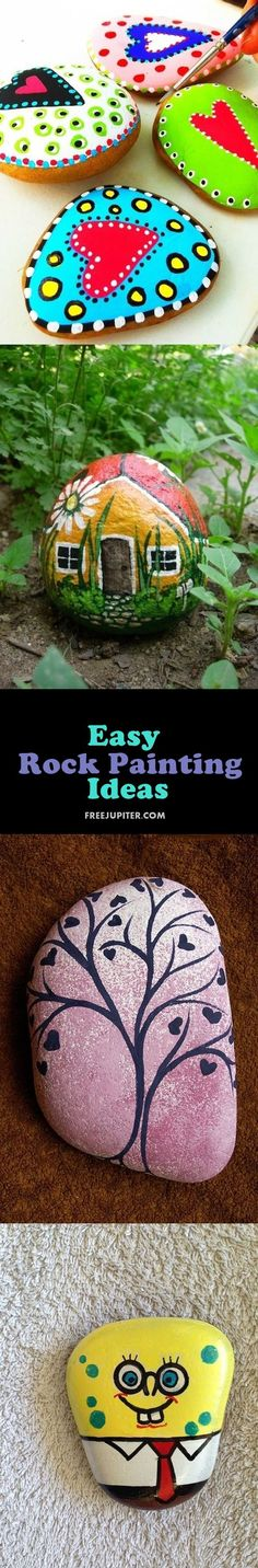 Painted Rocks – More than 300 Picture Ideas – Arts And Crafts – All DIY Projects Pebble Painting, Pebble Art, Stone Painting, Diy Painting, Stone Crafts, Rock Crafts, Arts And Crafts, Art Pierre, Deco Nature