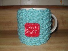 Handmade crocheted coffee mug cozy or tea by TheLeftHandedHooker, $12.50