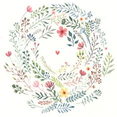 News and recent work - Tamsin Ainslie Illustration Illustration Blume, Watercolor Illustration, Flower Illustration Pattern, Art Floral, Watercolor Flowers, Watercolor Paintings, Watercolors, Floral Wreath Watercolor, Illustration Inspiration