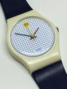 Vintage Ladies Swatch Watch Dotted Swiss LW104 by ThatIsSoFunny