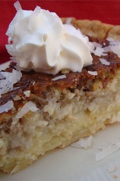 This French coconut pie is a quick and easy pie recipe! Bake the best coconut pie using pecans, a premade pie shell, buttermilk, and coconut flakes. You will love baking this coconut cream pie for dessert!