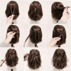 Half Bun For Short Hair