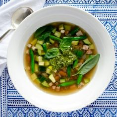 Zucchini and Freekeh Soup - a delicious, summery soup, which can be enjoyed all year round.