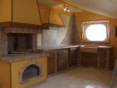 caminetti barbecue muratura a legna da interno ed esterno progettati ...