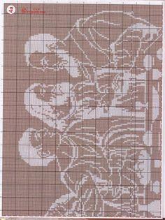un solo color Crochet Cross, Thread Crochet, Filet Crochet, Cross Stitching, Cross Stitch Embroidery, Cross Stitch Patterns, Crochet Patterns, Religion, Angel Artwork