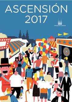 Resultado de imagen de cartel fiesta dia santiago compostela 2017
