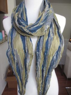 New AUTHENTIC Chan Luu Tie Dye Crinkle Scarf Cinder Combo #ChanLuu #Scarf #ChanLuuScarf #TieDyeScarf #BlueTieDye #TieDye #ChanLuuBlueScarf